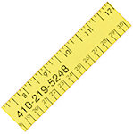12 Inch Fluorescent Wood Rulers
